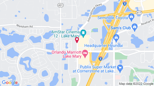The Westin Lake Mary, Orlando North Map