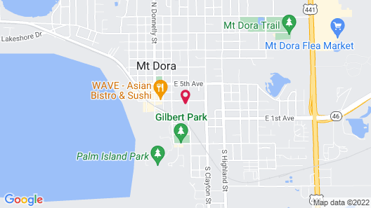 Grandview Bed and Breakfast Mount Dora Map