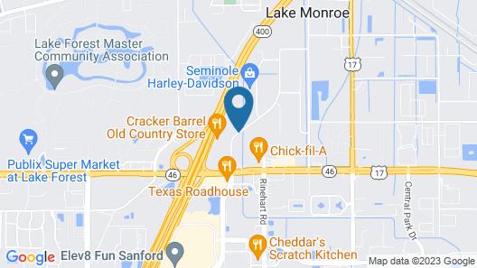 Comfort Inn & Suites Orlando North Map