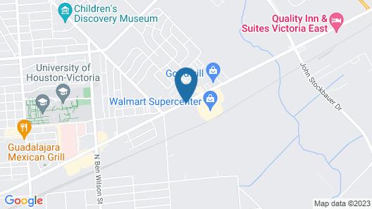 Americas Best Value Inn & Suites Victoria Map