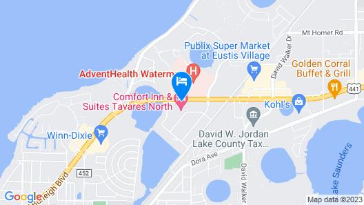 Comfort Inn & Suites Tavares North Map