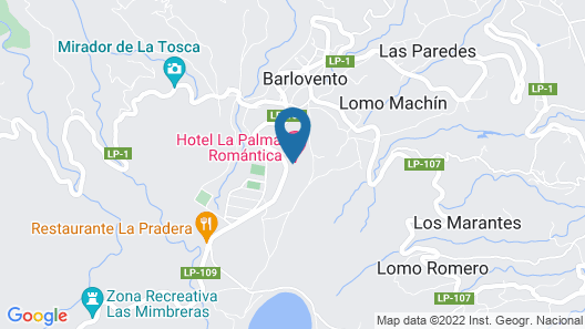 Hotel La Palma Romántica Map