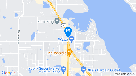 Best Western Plus Chain of Lakes Inn & Suites Map