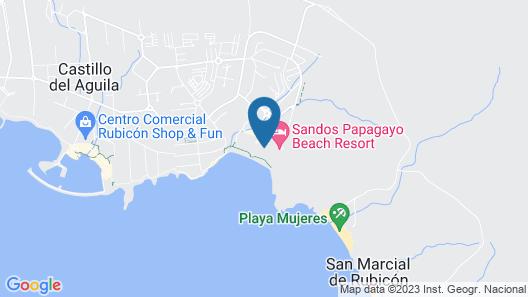 Sandos Papagayo Hotel Map