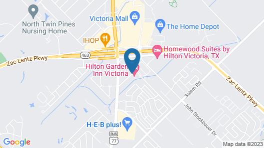 Hilton Garden Inn Victoria Map