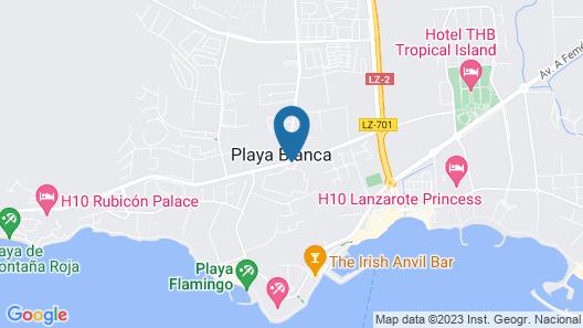 Elba Lanzarote Royal Village Resort Map