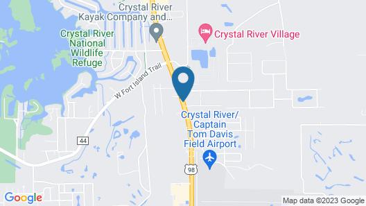 Hampton Inn Crystal River, FL Map