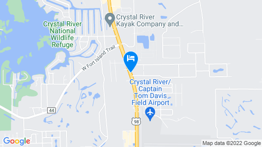 Hampton Inn Crystal River, FL Map