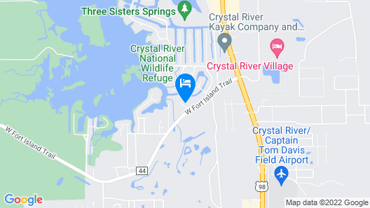 Plantation on Crystal River, Ascend Hotel Collection Map