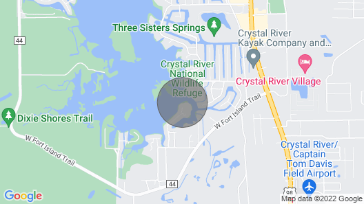 Fish From the Dock, Paddle Board, Kayak, Swim With Manatees, Relax by the Pool! Map