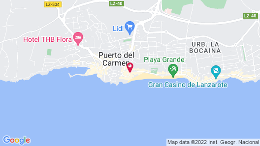 Suite Hotel Fariones Playa Map