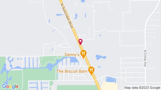 Econo Lodge Crystal River Map