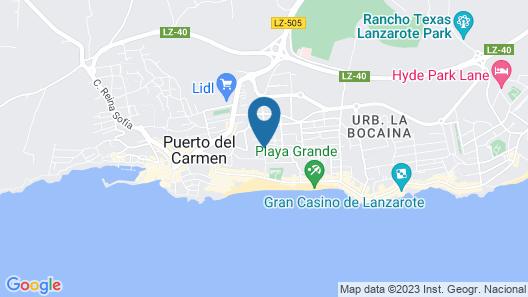 Apartamentos Isla de Lobos Map