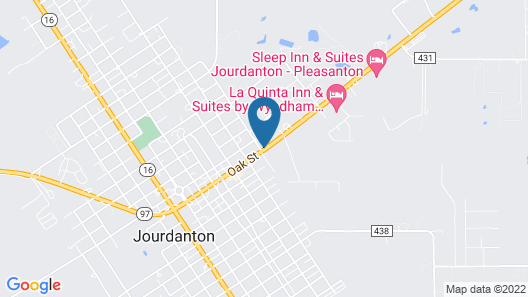 Motel 6 Jourdanton, TX Map