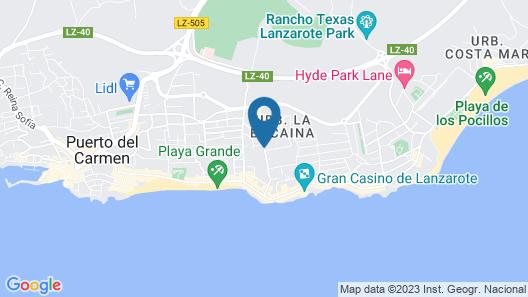 Apartamentos Plaza Azul Map