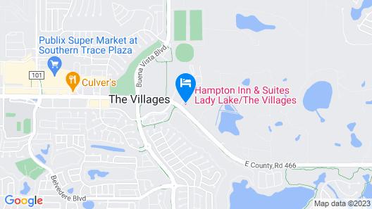 Hampton Inn & Suites Lady Lake/The Villages Map