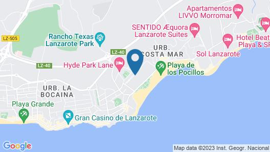 Hotel Riu Paraiso Lanzarote Resort - All Inclusive Map