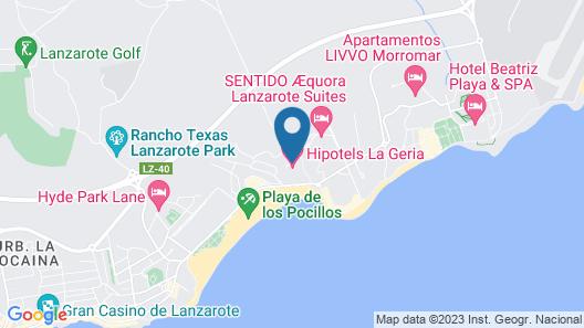 Hipotels La Geria Map