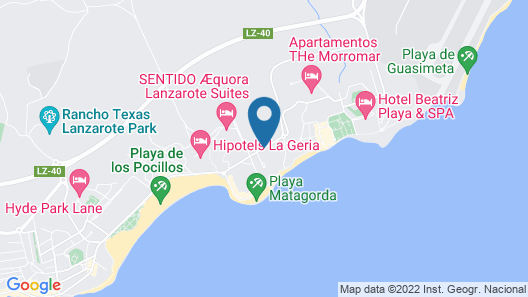 Hotel Lava Beach Map