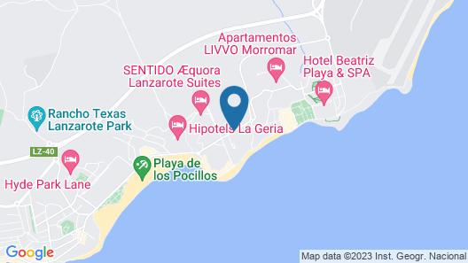 Hotel Lava Beach Map