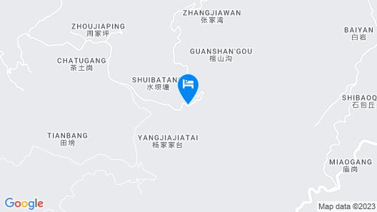 Chongqing Gujian Mountain Shanli China Map