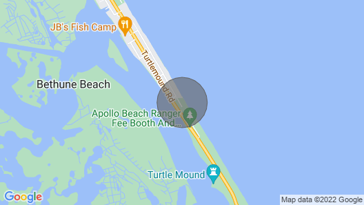 Secluded Tiki Beach House - Beach Fun, Surf, Meditate, Fish, Play or Just Relax Map
