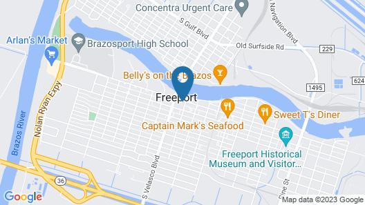 Motel 6 Freeport, TX Map