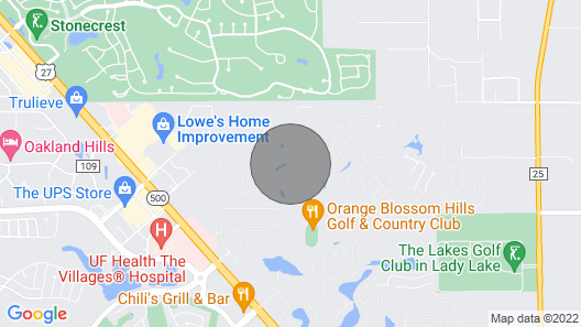 Stunning Golf Course and Sunset Views in The Villages, Fl Map