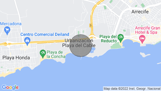 Luxury Villa Lanzarote Beach Map