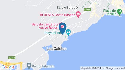 Occidental Lanzarote Playa Map
