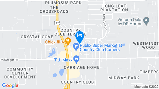 Holiday Inn Express And Suites Deland South Map