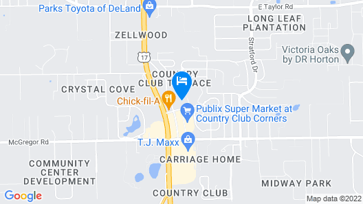 Holiday Inn Express And Suites Deland South, an IHG Hotel Map
