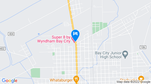 Super 8 by Wyndham Bay City Map