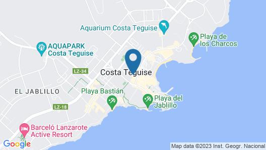 Apartamentos Nazaret Map