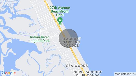 Sea Coast Gardens Comfortable Condo on the No-Drive Beach Map