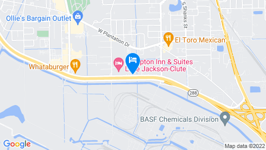 Motel 6 Clute, TX Map
