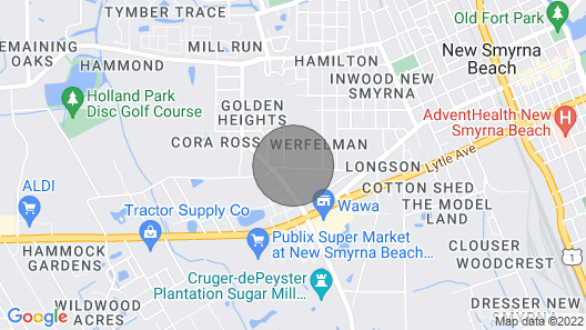 Getaway New Smyrna Beach, Sun, Pool, Shopping Map