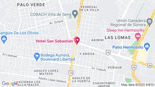 Hotel San Sebastian Map