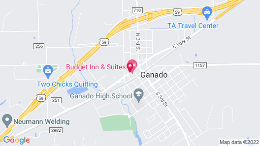 Budget Inn and Suites Map