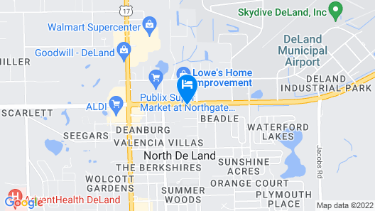Comfort Inn & Suites DeLand - near University Map