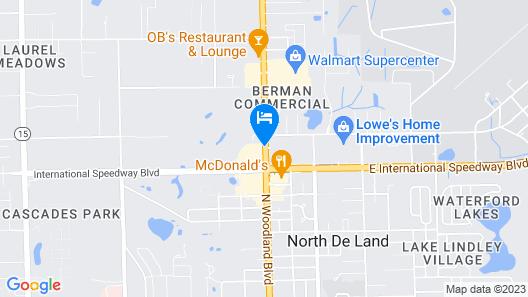 Hampton Inn & Suites by Hilton Deland Map