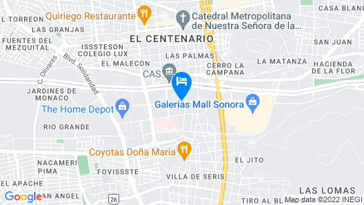 ibis Hermosillo Map