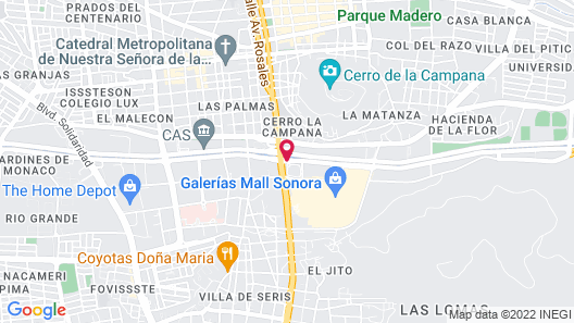 Hotel Colonial Hermosillo Map