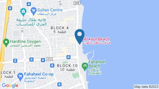 Al Kout Beach Hotel Map