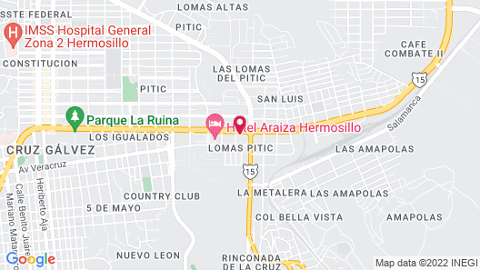Fiesta Inn Hermosillo Map