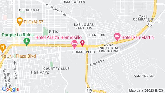 Fiesta Americana Hermosillo Map