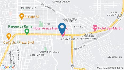 Araiza Hermosillo Map