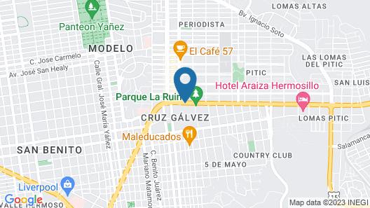 Hotel Lucerna Hermosillo Map