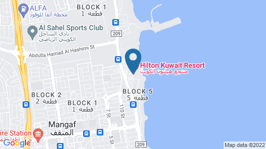 Hilton Kuwait Resort Map