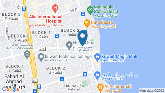 Best Western Plus Mahboula Map